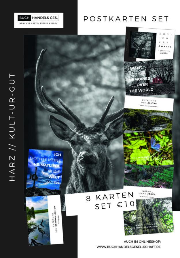 HARZ // KULT-UR-GUT Postkartenset | Frohlein Wunderlich