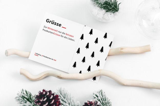 Wintergrüße Postkartenset