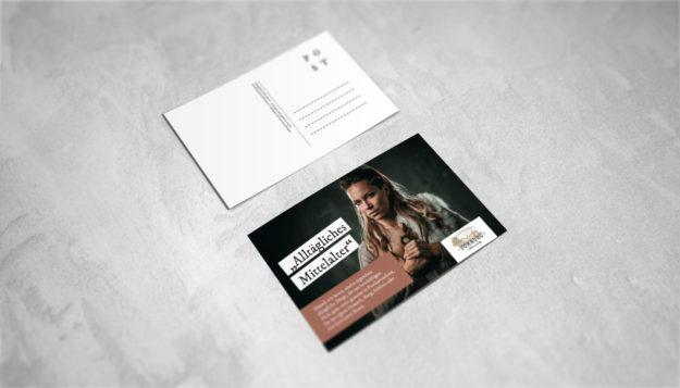 Alltägliches Mittelalter – Postkartenset | Die Vorburg